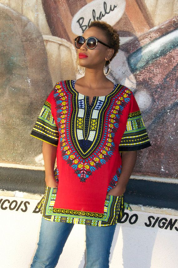 6162243fb37f54 Dashiki Shirt African Print Shirt by Bongolicious1 on Etsy ~African fashion