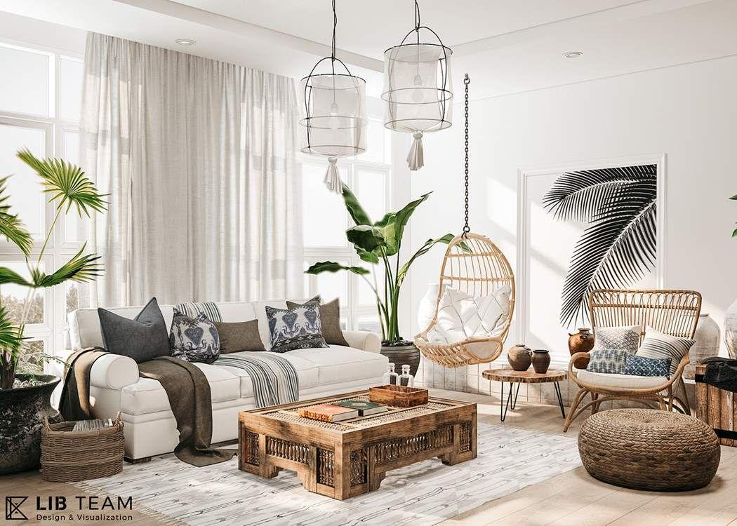 """RELAXING"""", un appartement au design tropical au Vietnam en 18"""