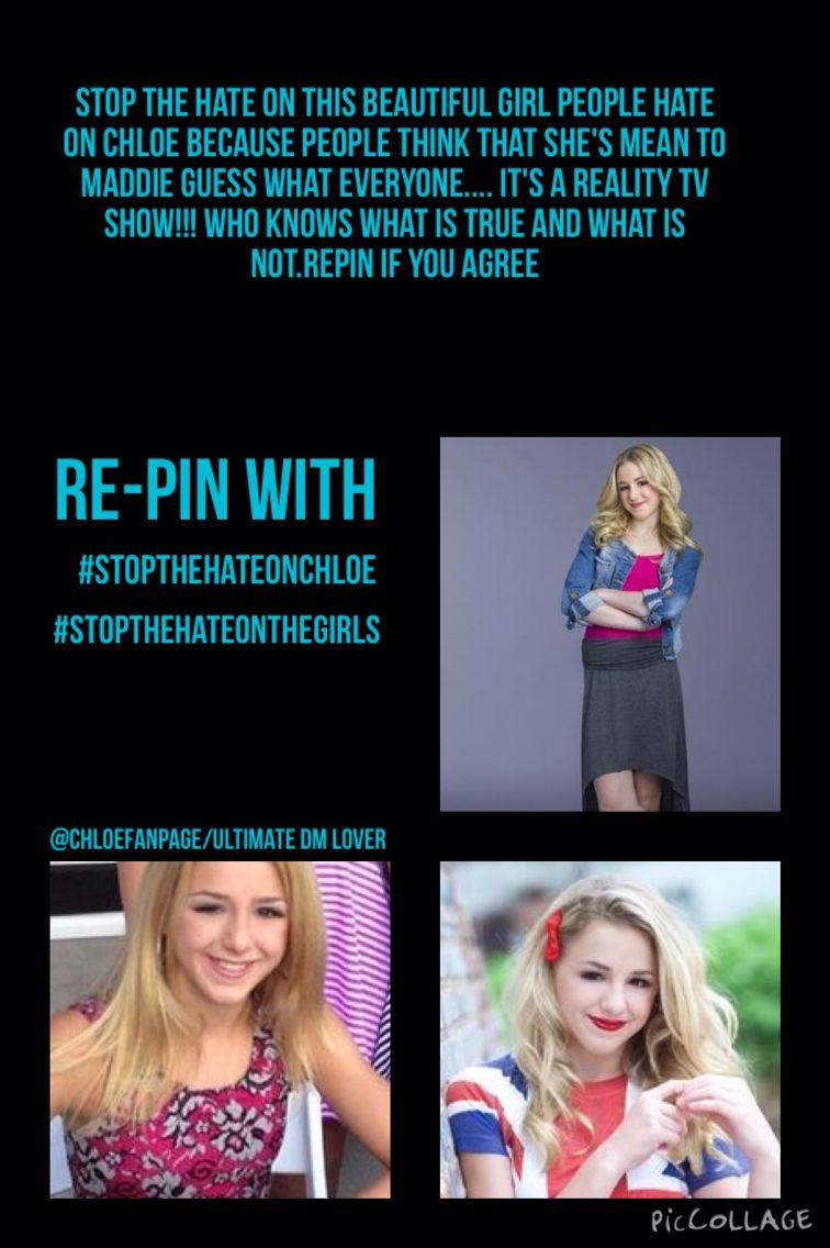 #StopTheHateOnChloe #StopTheHateOnTheGirls @jessicakreutzer