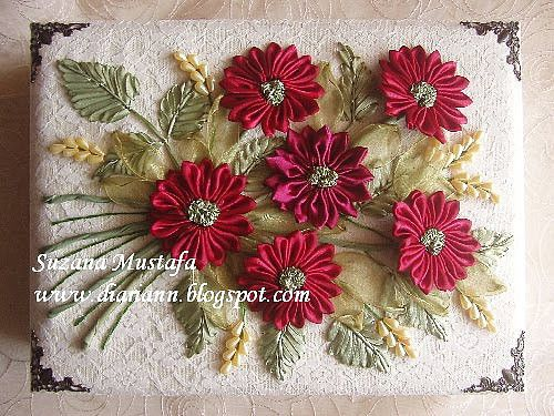 (63) Одноклассники | Подарки, Вышивка лентами, Цветы