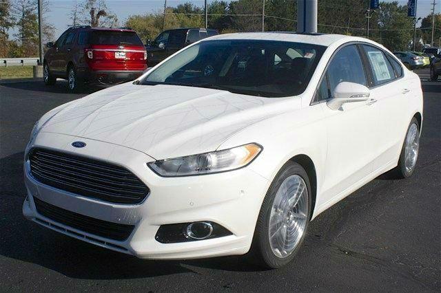 2014 Ford Fusion Titanium White Platinum Ford Fusion