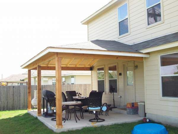 Hip Roof Patio Design Ideas | Patio roof, Patio, Roof design
