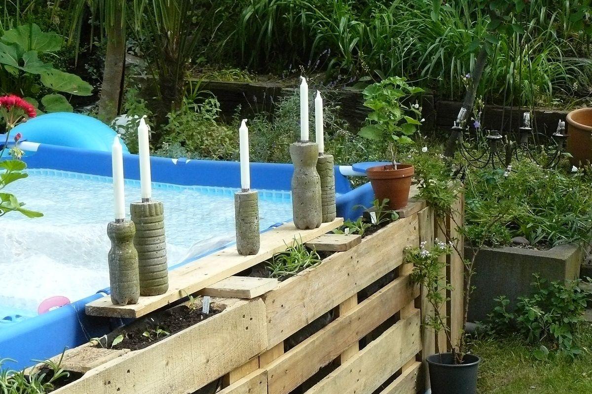 Diy Umrandung Für Pool Aus Paletten Garten Ideen Tipps
