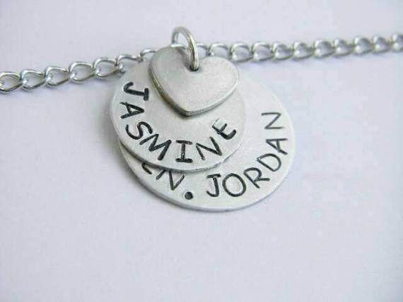 Mom necklace  kids name necklace  charm necklace gift for