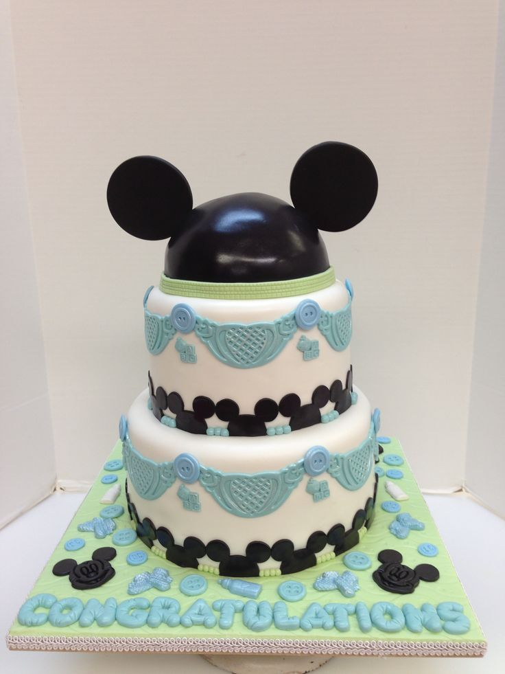 mickey mouse baby shower cakes - Google Search