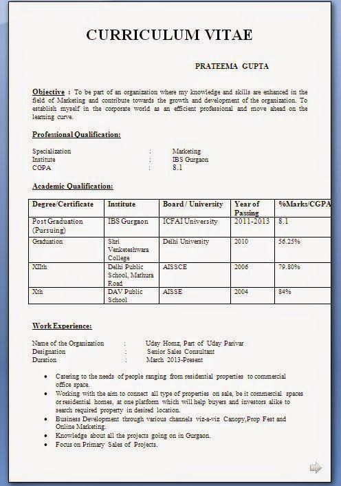 example of cv personal statement Beautiful Excellent Professional - resume format for freshers download