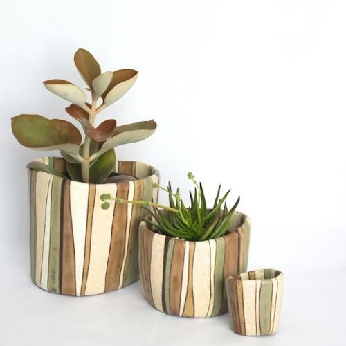 Designer Pots Esther Pottery Joshua Tree Series Potted Los Angeles