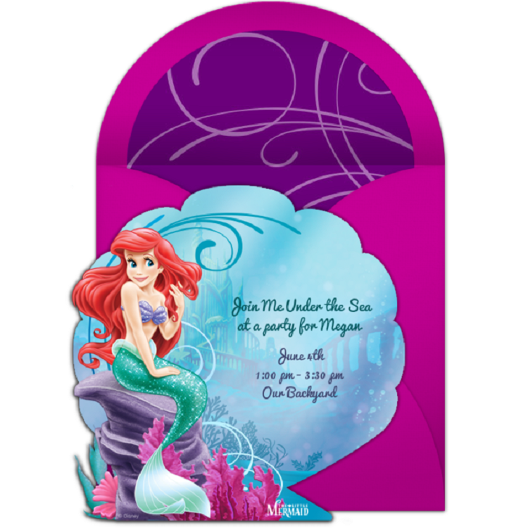 Mermaid Birthday Invitations Template Invitation Card Birthday