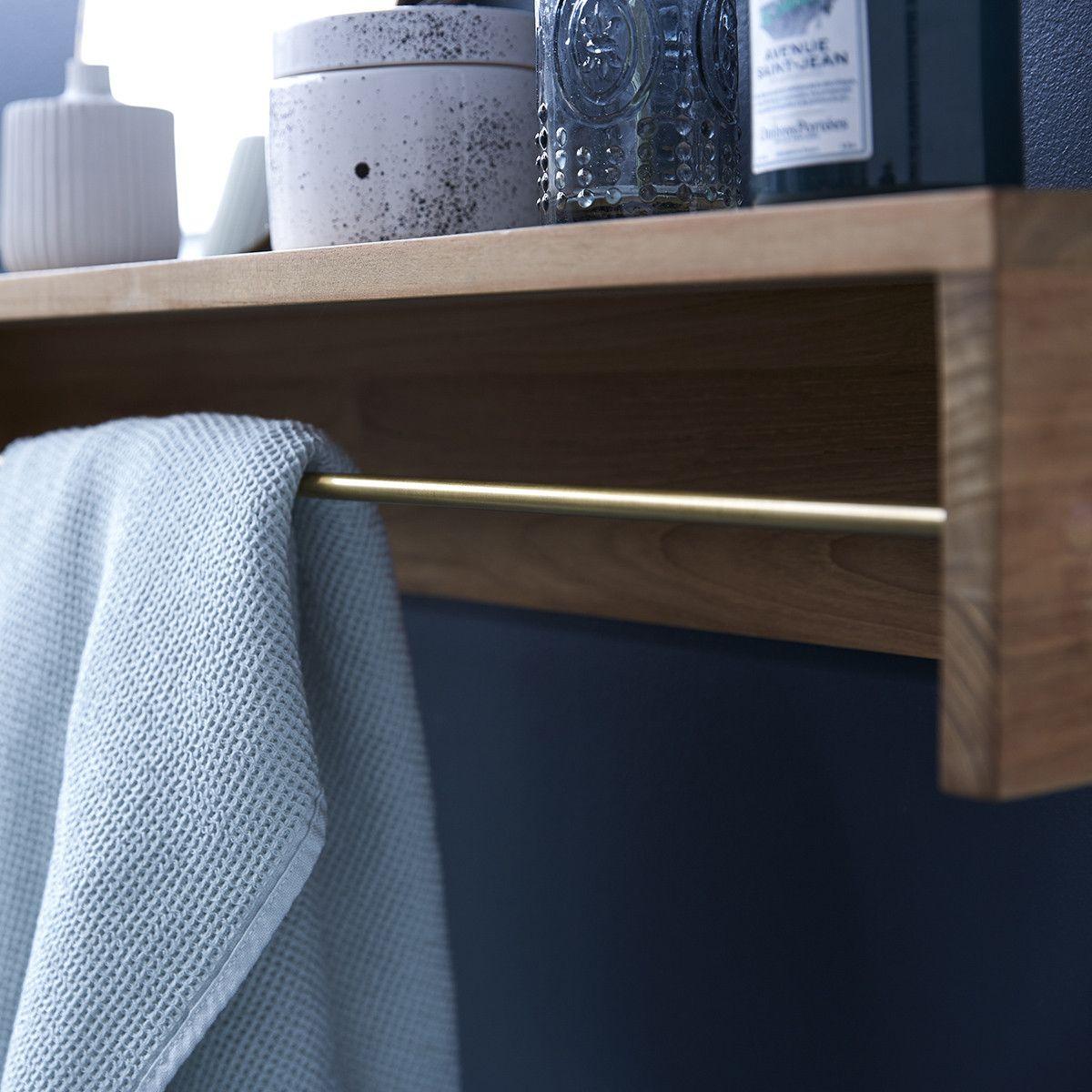 Sasha 100 Teak Wood Towel Rail In 2020 Raw Wood Furniture Wall