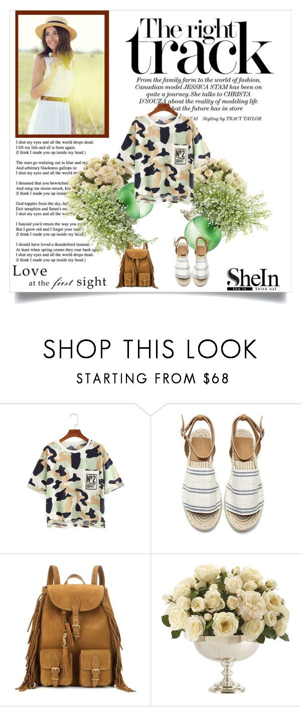 """""""Shein"""" by kristina779 ❤ liked on Polyvore featuring Yves Saint Laurent and Ethan Allen"""