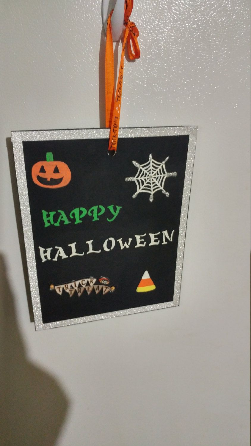 Halloween wall haning by StephaniesFrames on Etsy