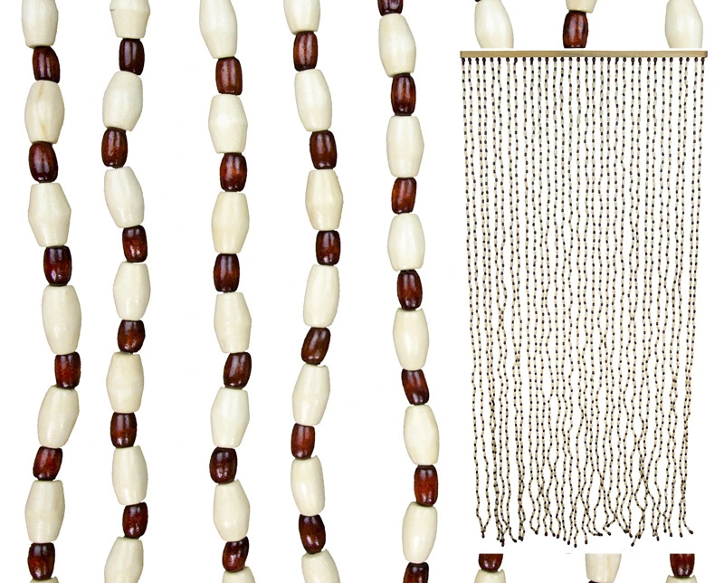 Zasłona Do Drzwi Drewniane Koraliki 33 Sznurki Beaded Necklace Beaded Curtains