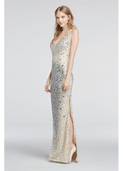 Strapless v neck prom dresses