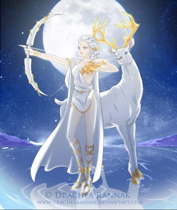Resultado de imagen para artemisa mythology anime