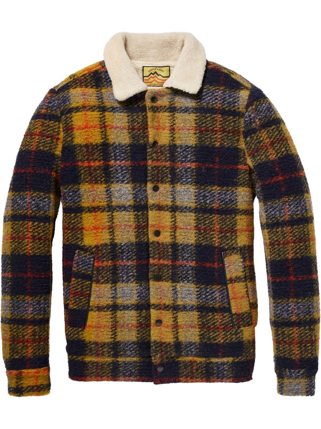ddaeee0f56b1 Checked Wool Jacket Official Scotch & Soda online store, 30 days return  guarantee. Now