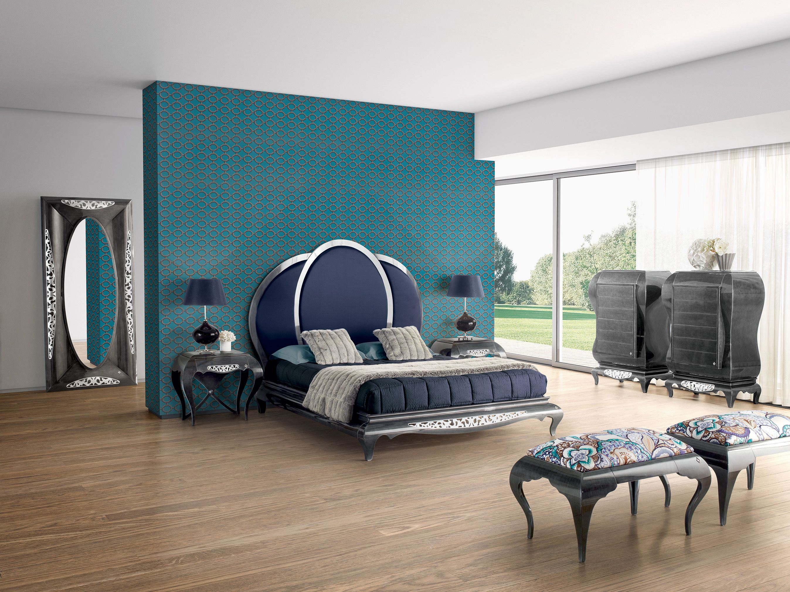 New York Bedroom Wallpaper New York Blue Bedroom Jetclass Real Furniture Luxury Interior