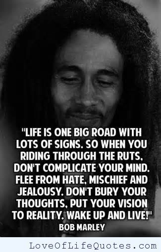 Bob Marley Quotes Delectable Bob Marley Quote On Life  Httpwwwloveoflifequoteslifebob