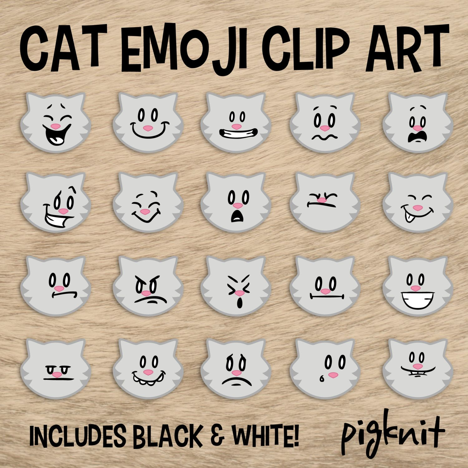 Cat Emoji Clip Art Kitty Clip Art Facial Expressions Smiley Face