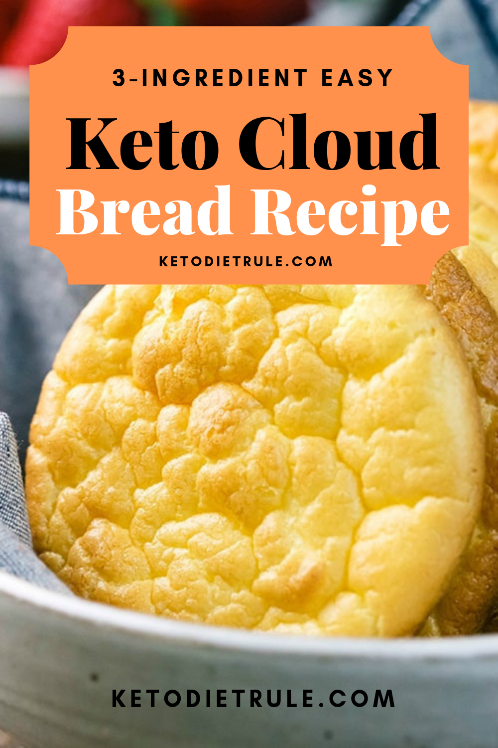 3 Ingredient Keto Cloud Bread Recipe Gluten Free Grain Free Recipe Cloud Bread Bread Substitute Lowest Carb Bread Recipe