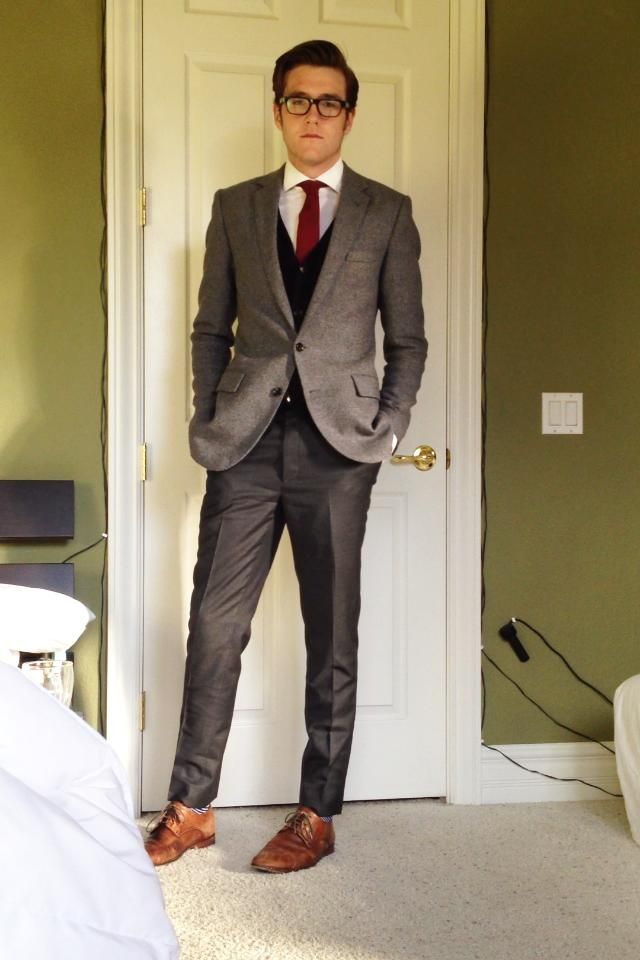 Great Mix Of Grays Would Prefer If Pants Were Slightly Less Shiny In Comparison To The Blaz Wedding Guest Outfit Winter Large Men Fashion Wedding Guest Outfit