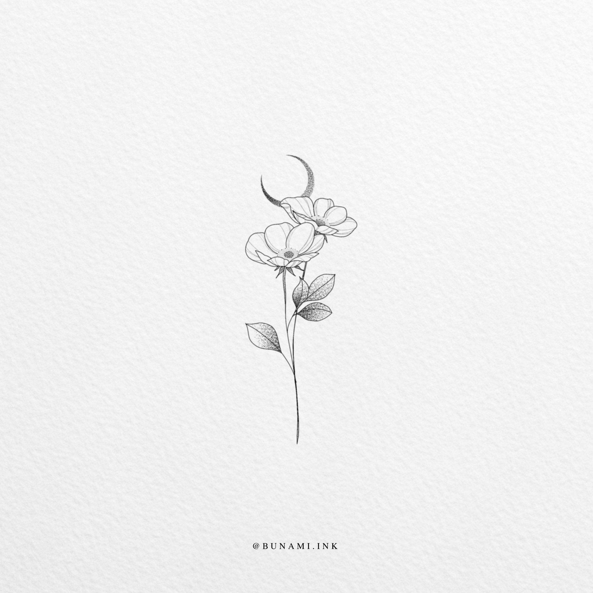 Tiny wild rose – Bunami Ink