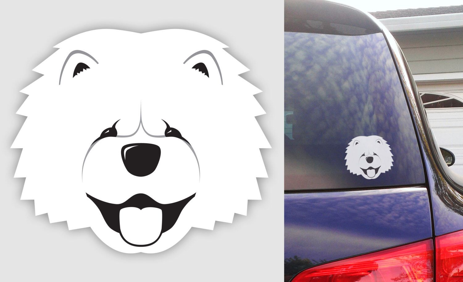 Chow Chow Dog Sticker - Durable Vinyl Weatherproof Decal by BulldogIM on Etsy https://www.etsy.com/listing/184683032/chow-chow-dog-sticker-durable-vinyl