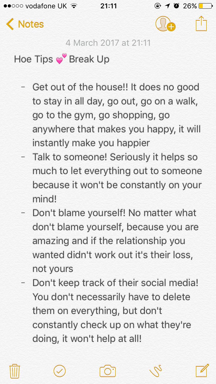 Break up tips for girls