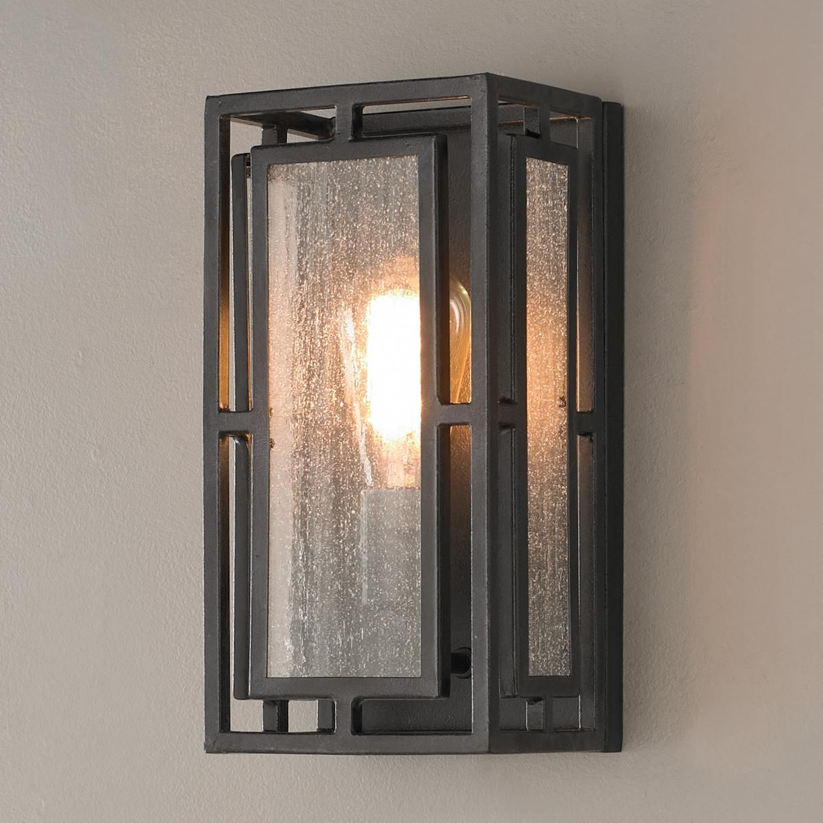 Rustic Geometric Wall Sconce Rustic Wall Sconces Wall Sconce