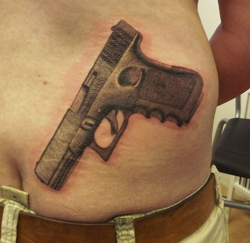 Gun Tattoos Meanings Designs And Ideas: Tattoos Only From Glock Guns