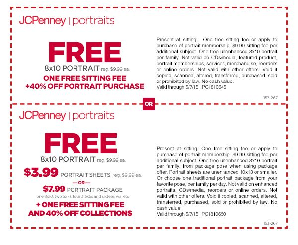 www.jcpenney portrait coupons