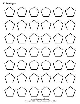Pentagon Template. Free printable for English Paper Piecing. | Top