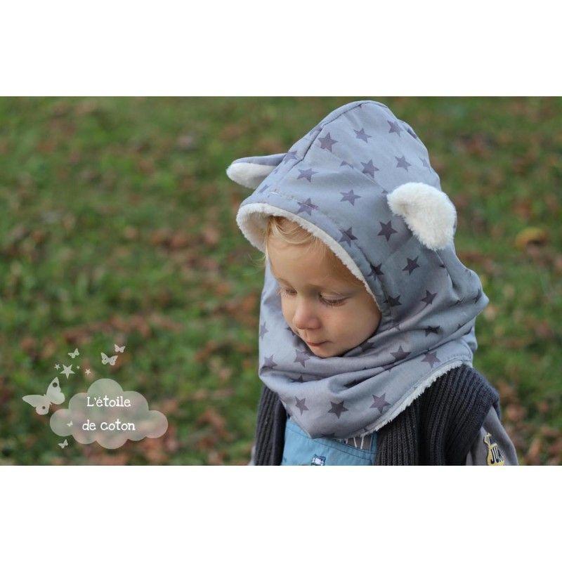 a74080b9a7ab Patron à télécharger de la cagoule à oreilles ou crête Couture Pour Bébé,  Petite Couture