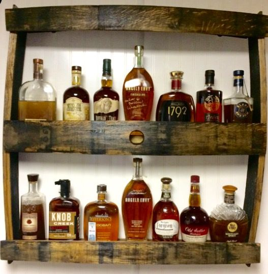 Bourbon Bottle Display Rack See This And Others Items On Etsy Com