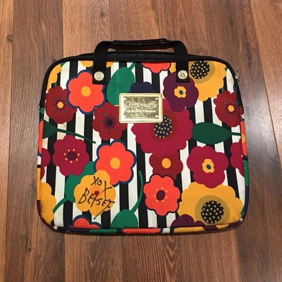 """Betseyville Laptop Bag SIGNED BY BETSEY JOHNSON BETSEY signed laptop bag (she signed it when I met her at fashion week). Height: 12"""" Width: 15"""" (inches) Bags Laptop Bags"""
