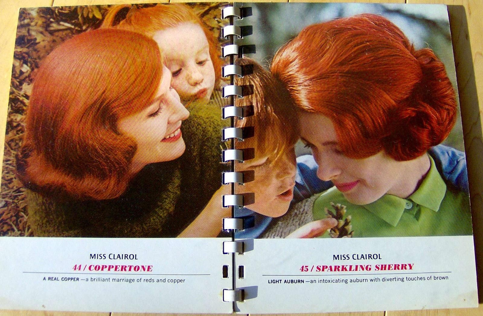 1965 Miss Clairol Hair Color Selector Retro Hardcover Book Booklet