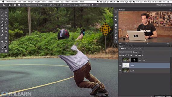 Photoshop motion blur