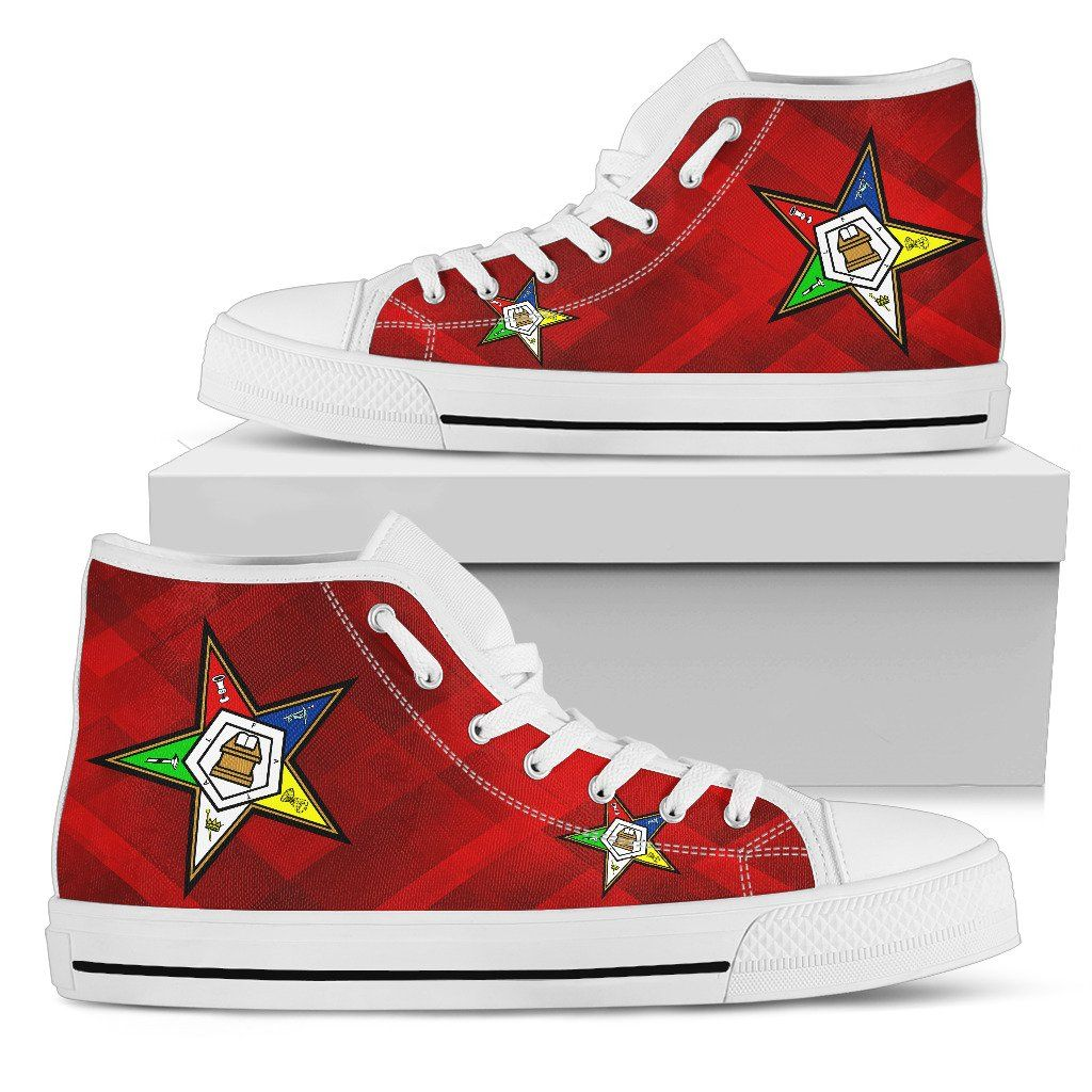 7d7ae3be1525e OES Classic Womens High Top- Red SQ | Order of the Eastern Star ...