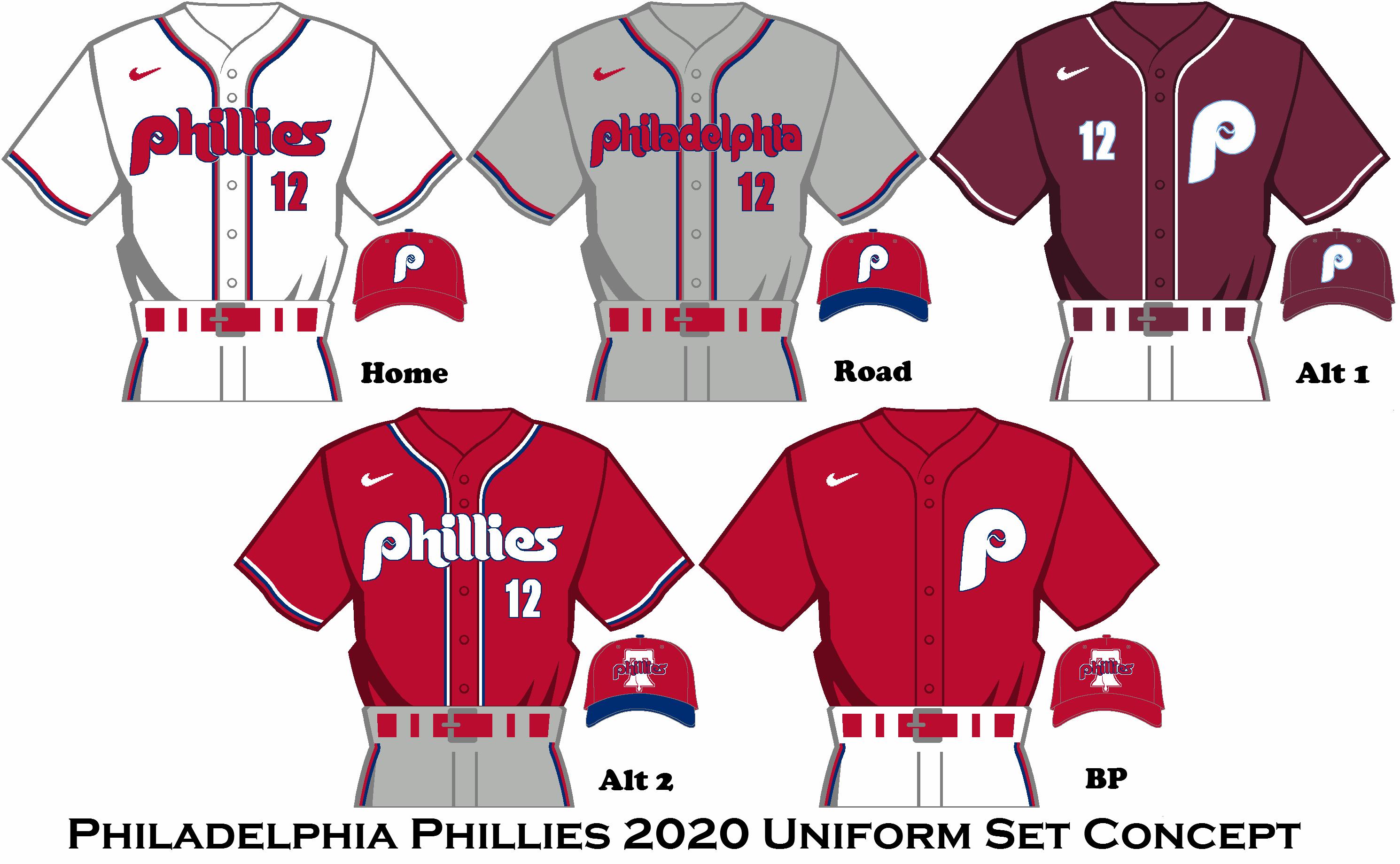 2020 Nike Rebrand Philadelphia Phillies Uniform Set Philadelphia Phillies Phillies Baseball Uniforms