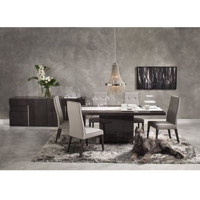 CARLYLE DINING TABLE WOOD TOP EXT
