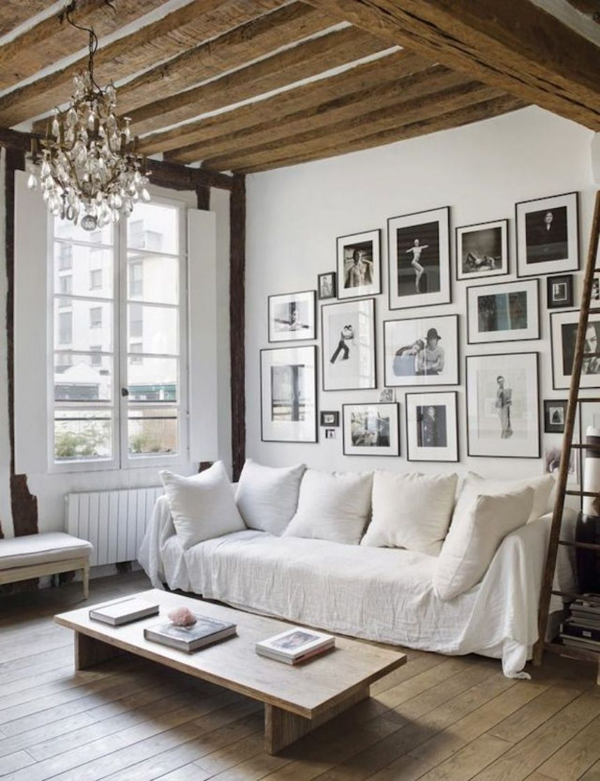 Sillon where paris meets new york a chic black and white apartment