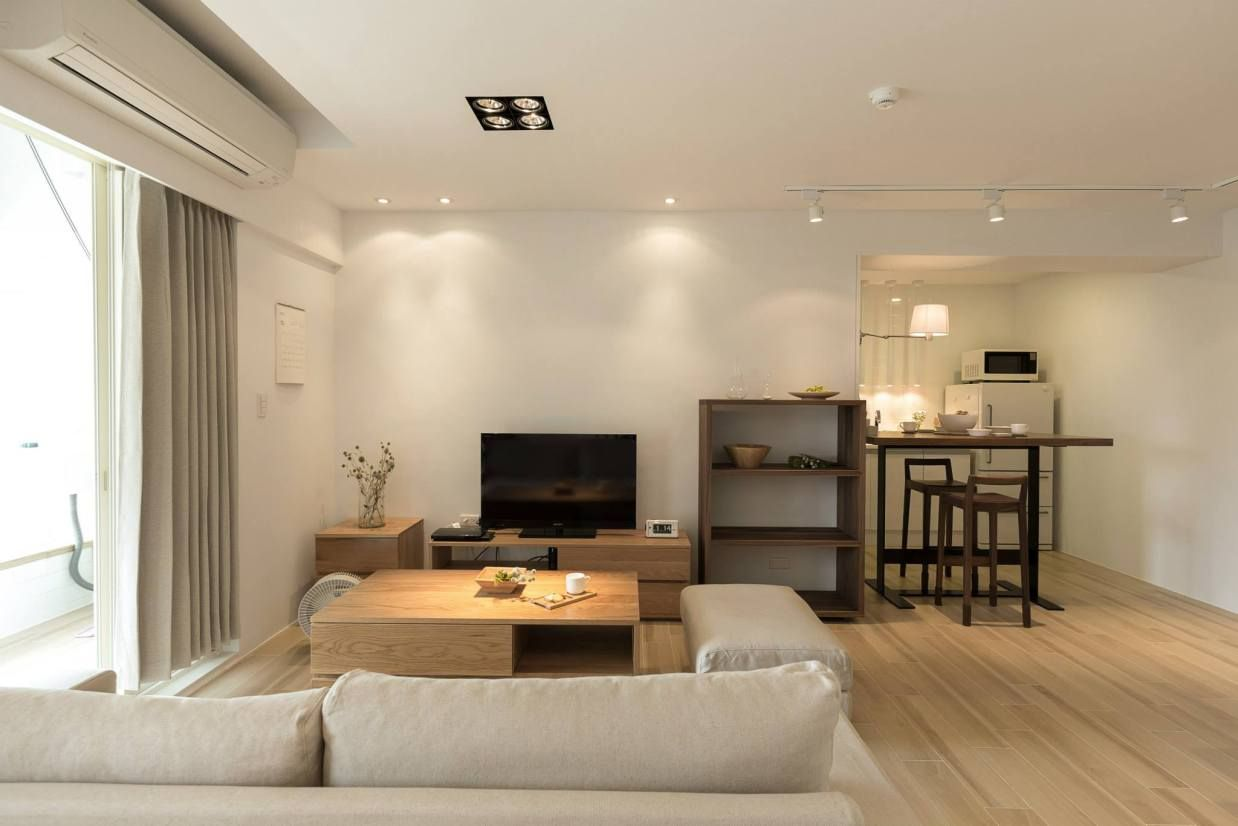 Woonkamer Van Muji : Muji apartment simple homes muji home home en muji