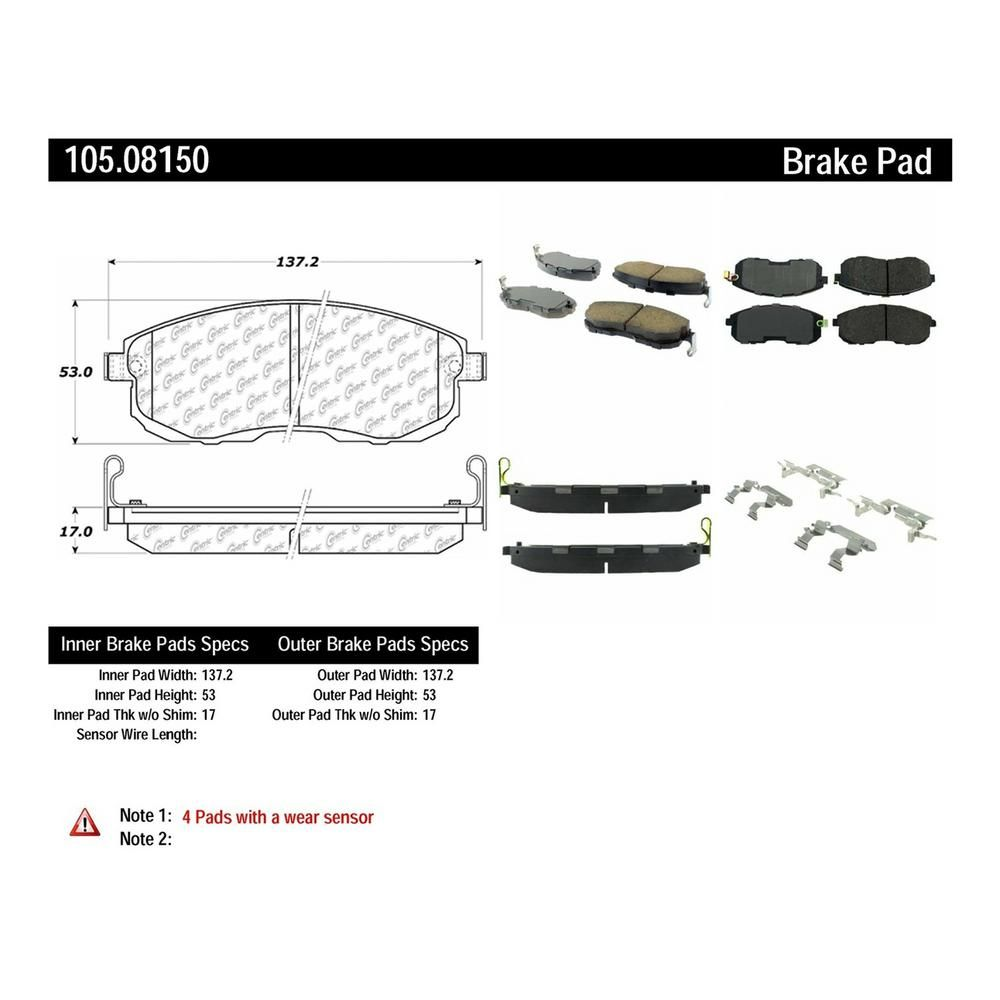 Centric Parts Disc Brake Pad Set 105 08150 In 2019 Brake Pads Ceramic Brake Pads Jaguar S Type