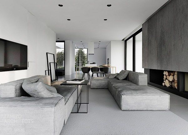 white black grey by tamizo architects pinterest wohnzimmer hamburg und. Black Bedroom Furniture Sets. Home Design Ideas