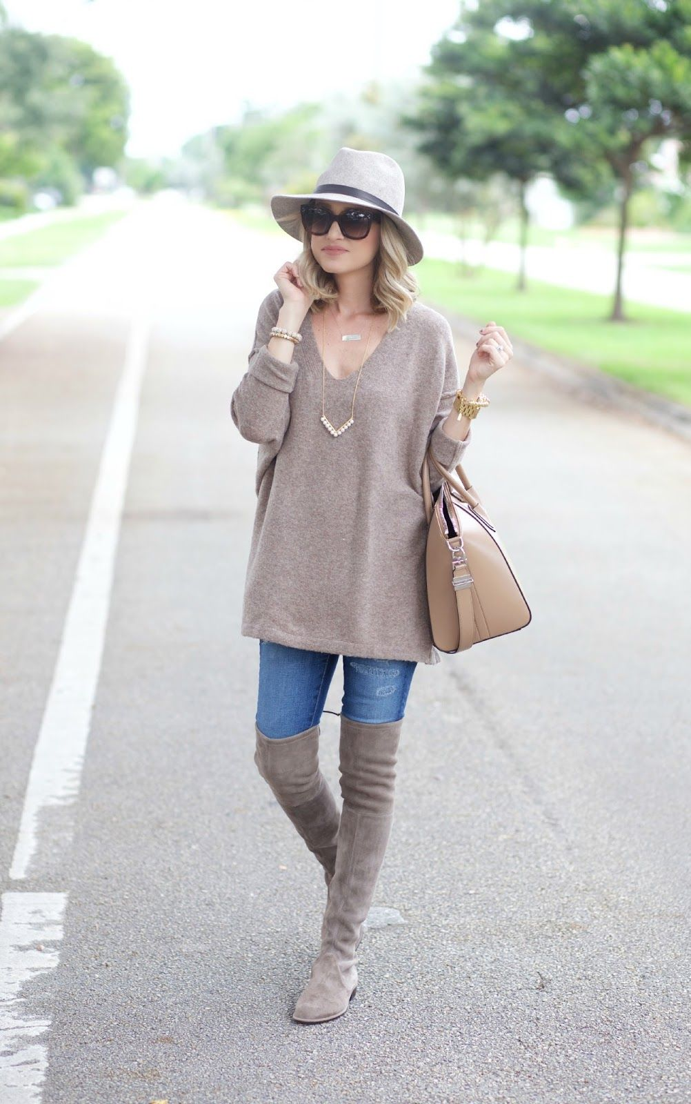 93151cea895 Oversized Sweater and Over the Knee Boots... (A Spoonful of Style ...