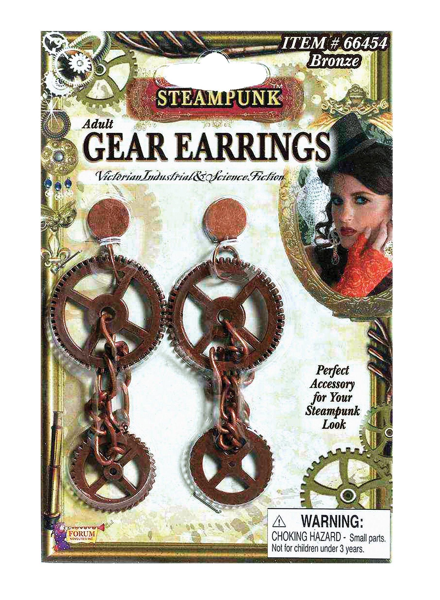 Gear Necklace Steampunk Victorian Fancy Dress Halloween Adult Costume Accessory