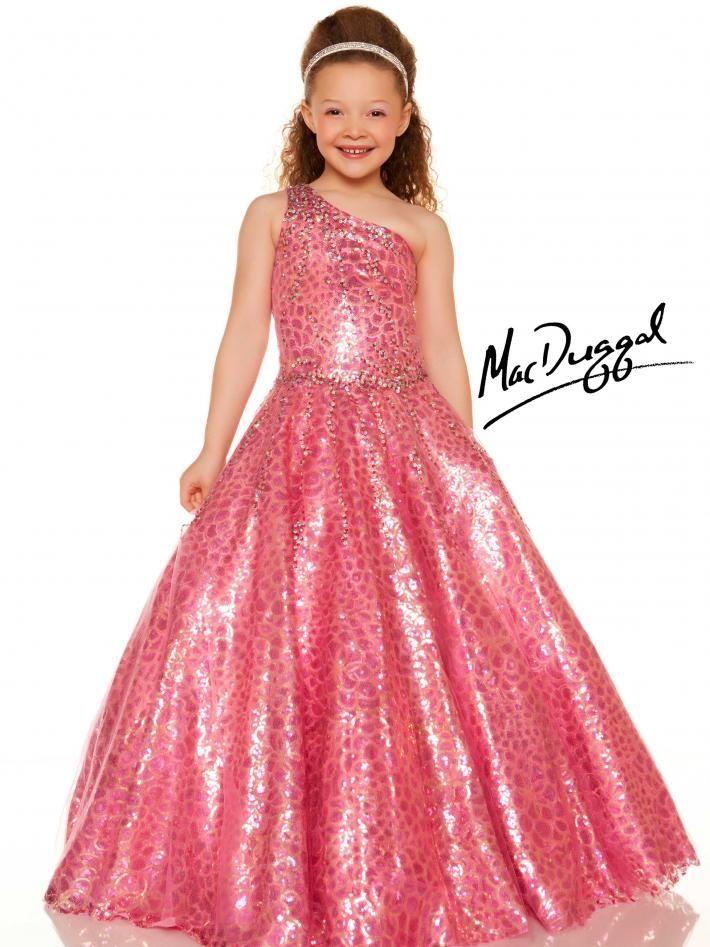 Turquiose Little Girls Pageant Dress - Mac Duggal | kiddie gown ...