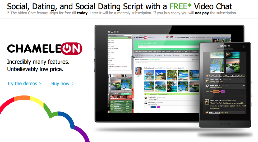 Chameleon Script: PHP dating and social networking