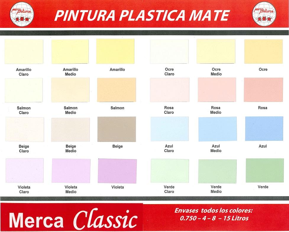 Pintura Plastica Merca Classic Carta De Colores Pintura Para Plastico Colores