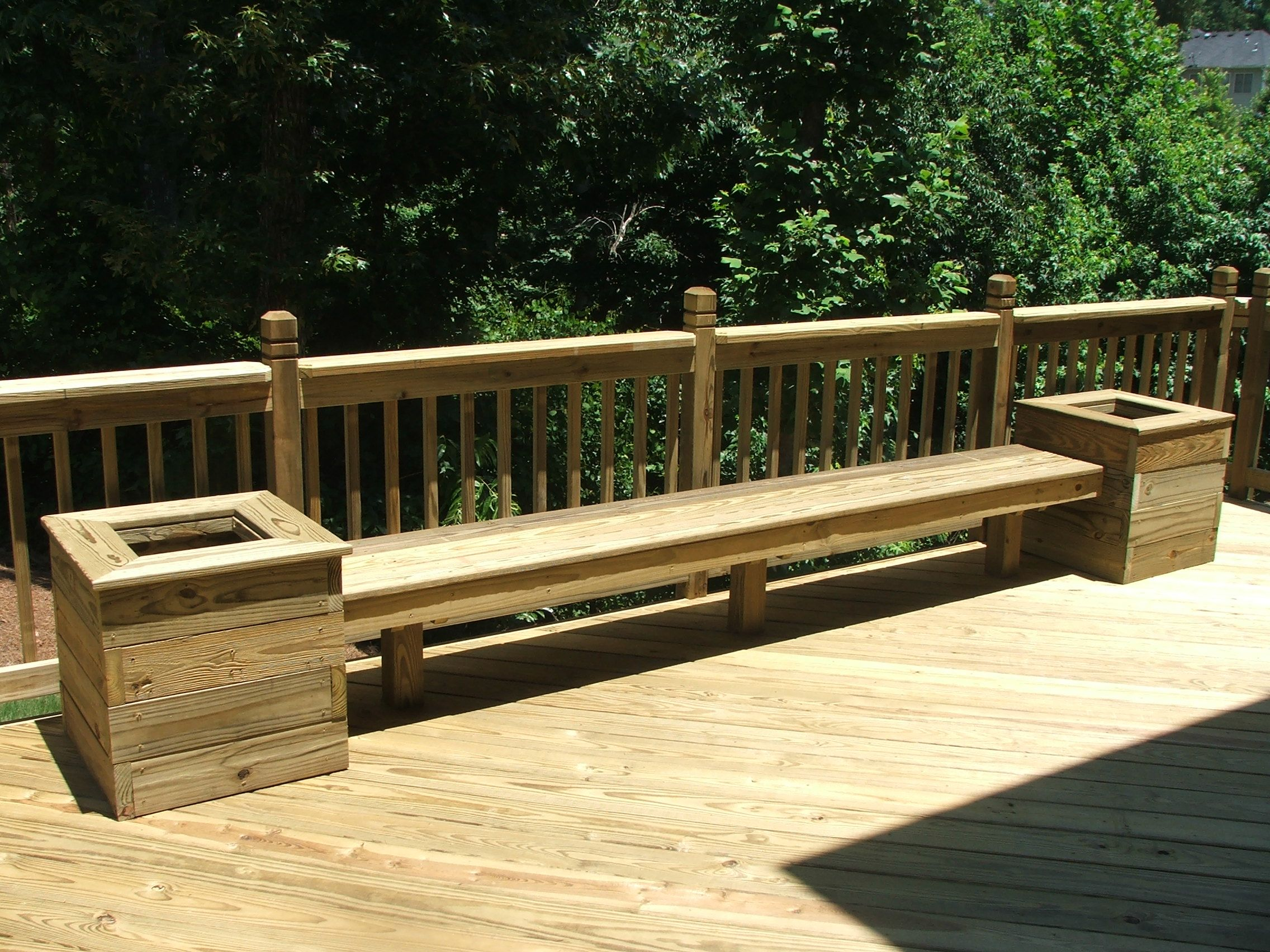 Build benches wplanters for back deck Maybe add a matching table