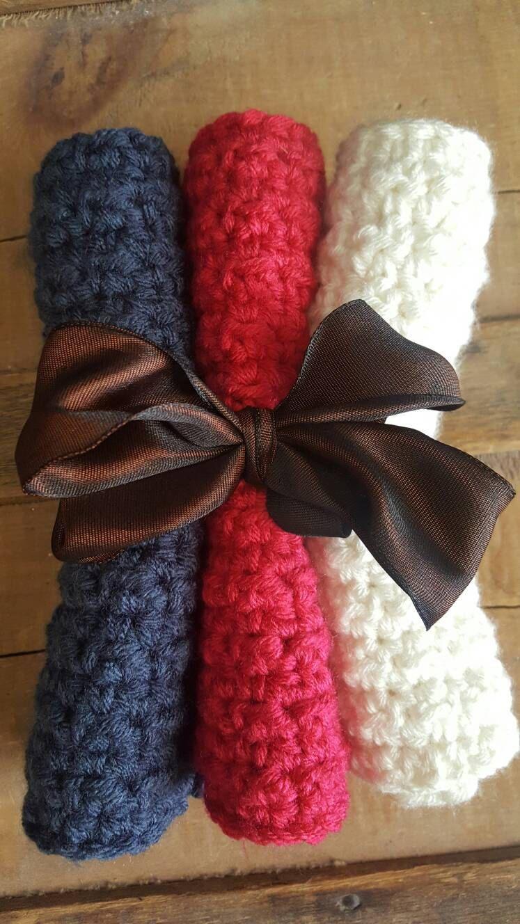 Handmade Dish Cloths Crochet Dish Cloths Crochet Dish Rags Crochet ...